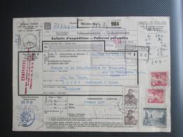Paketkaart  Verstuurd Uit Tchecoslowakije Via Herbesthal Naar Aalst - Cartas