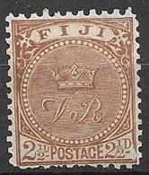 1891 Fiji Mint Hinge Trace * 7,50 Euros - Fiji (...-1970)