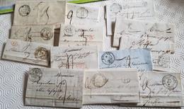 Collection De Lettres Relatives à QUILLAN (Aude) - 13 Documents - 1801-1848: Precursors XIX