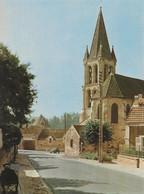 NESLES LA VALLEE  -  L'église - Peintre Et Deux Chevaux.... - Nesles-la-Vallée