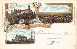 OENSINGEN SWITZERLAND~GENERALANSICHT-BAHNHOF-SCHLOSS BECHBURG~1903 KUNSTLER MULTI IMAGE POSTCARD 51096 - SO Soleure