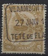TR 65 Gestempeld VLAAMSCH HOOFD TETE DE FLANDRE. TB - 1915-1921