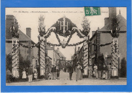 18 CHER - HENRICHEMONT Fêtes Des 15 Et 16 Août 1908, Arc De Triomphe, Place Gabriel - Henrichemont