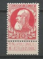 Timbre  Belgique En Neuf **  N 74 - 1905 Thick Beard