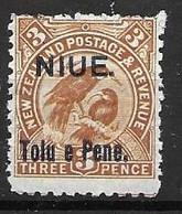 1903 Niue Mint Hinged * 14 Euros Bird - Niue