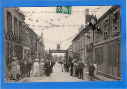 18 CHER - HENRICHEMONT Fêtes Des 15 Et 16 Août 1908, Rue D'Anjou (voir Descriptif) - Henrichemont