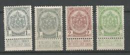 Timbre  Belgique En Neuf **  N 81/81a/82/83 - 1893-1907 Wapenschild
