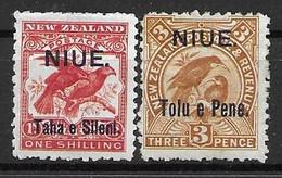1903 Niue Mint Hinged Birds * 64 Euros - Unclassified