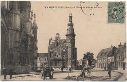 59 WAMBRECHIES  L'Hôtel De Ville Et La Place - Sonstige Gemeinden