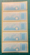 LISA Carrier 1985 - Bande De 5 Neuve Sans Indication De Valeur  - - 1985 Papier «Carrier»