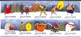 Netherlands 2019 Christmas 10v S-a, (Mint NH), Poultry - Christmas - Nuovi