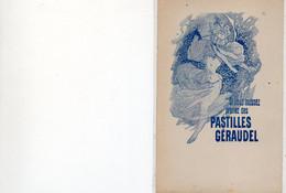 """Cpa  A4 Précurseur Publicité """"Si Vous Toussez Prenez Des PASTILLES GERAUDEL """"  Belle Carte - Reclame"""