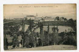 Ref 202 - AVRILLY - église Et Maison D'Ecole (1916) - Other Municipalities