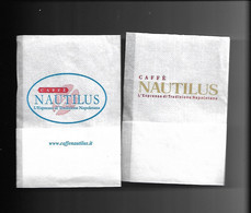 2 Tovagliolini Da Caffè - Saffè Nautilus - Company Logo Napkins