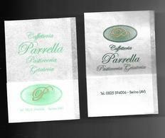 2 Tovagliolini Da Caffè - Caffè Parrella Serino ( Avellino ) - Company Logo Napkins