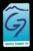 348 Golden - Napoli Summit G.7 Da Lire 10.000 Sip - Öff. Werbe-TK