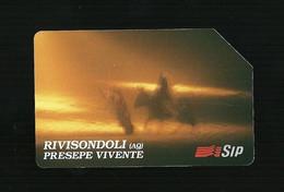274 Golden - Rivisondoli Presepe Da Lire 10.000 Sip - Öff. Werbe-TK