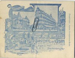 Blankenberge :  Grand Hotel De L'ocean :  Menu 1910  ( See Scan For Detail ) 13 X 10 Cm - Menus