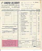 """VP. 0922 / Facture - Ets E. Dujardin - ARCACHON ( Gironde) - (""""les Galeries"""" à Pons) - Altri"""