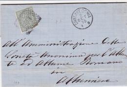 Civitavecchia Numerale A Punti Su Lettera Del 1875 Completa Di Testo - Storia Postale