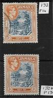 JAMAICA 1938 - 1949 5s Perf 14 + 5s Perf 13 SG 132, 132b FINE USED Cat £7 - Jamaica (...-1961)
