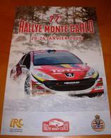 RALLYE MONTE CARLO IRC 2009  Photo PEUGEOT Affiche 60x40 - Autorennen - F1