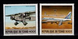 Tchad - YV PA 283 & 284 N** Complete Avions - Ciad (1960-...)