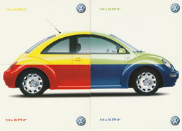 Publicités-rébus Pour Voitures V W - 4 Cartes Rébus + 2 Cartes Complètes + 1 Verso = 6 CPM (7 Scan) - Advertising