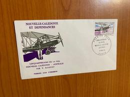 FDC - Cinquantenere Du 1 Er Vol Nouvelle Caledonie - Australie 1981 - Briefe U. Dokumente