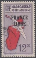 Madagascar 1940-1960 - Poste Aérienne N° 49 (YT) N° 51 (AM) Oblitéré. - Airmail