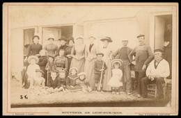 PHOTO CDV Albuminée Sur Carton - Avant 1900 - Souvenir LION SUR MER - Marins - Pêcheurs - CALVADOS - J. BRECHET LANGRUNE - Antiche (ante 1900)