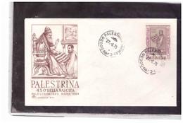 FDC5882  -   PALESTRINA   27.6.1975   /  FDC 450° ANN. NASCITA  GIOVANNI PIERLUIGI DA PALESTRINA - F.D.C.