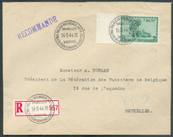 ORVAL 3Fr.25 Obl. Sc PALAIS DES BEAUX ARTS BRUXELLES Sur Lettre Recommandée Du 14-5-1944 Vers La Ville Superbe - 16978 - Storia Postale
