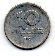 Hongrie -  10 Filler 1961- TTB - Hungary