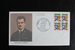 1968 LA REUNION CACHET PHILATELIQUE EXPOSITION ROLANS GARROS 5 OCT 1968 SUR BLOC DE 4 Y&T NO 346 B - Storia Postale