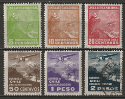 Chile 1934 Sc C22-4,C26-8  Air Post Partial Set MLH*/used - Chile
