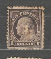 USA 1916 $1 Purple-black SG 484  Used - Unclassified