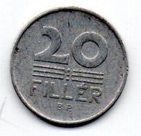 Hongrie -  20 Filler 1958 - TTB - Hungary