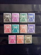 FRANCE.1943 à 1946 . TAXES N° 67 à 77 Série Complète.NEUFS SANS Charnières . Côte YT 2020 : 26,00 € - 1859-1955 Mint/hinged