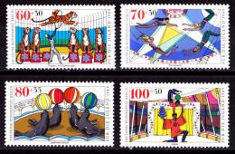 Wgd_ Berlin 1989 - Mi.Nr. 838 - 841 - Postfrisch MNH - Zirkus Circus - Nuevos