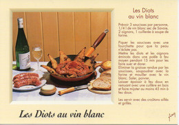 Recette : Les Diots Au Vin Blanc, Vin De Savoie, Couteau Opinel - 10 00 7680 Editions YVON - TBE - Recipes (cooking)