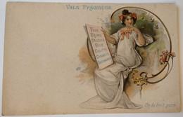 C. P. A. : 07 Publicité : Dessin Art Nouveau : VALS Précieuse : On La Boit Pure - Vals Les Bains
