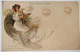 C. P. A. : 07 Publicité : Dessin Art Nouveau : VALS SAINT-JEAN : Se Mélange à Toutes Les Boissons - Vals Les Bains