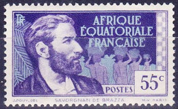 AFRIQUE EQUATORIALE FRANCAISE - Savorgnan De Brazza - Unused Stamps