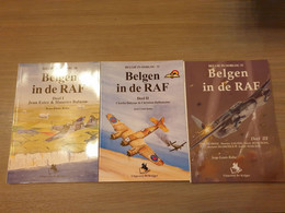 (1940-1945 LUCHTOORLOG PILOTEN) Belgen In De RAF. 3 Volumes. - Guerra 1939-45