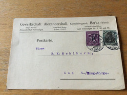 K14 Deutsches Reich 1922 Firmenkarte Von Berka Werra Bergbau - Storia Postale