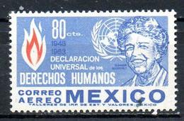 MEXIQUE. PA 243 De 1964. Déclaration Universelle Des Droits De L'Homme. - UNO