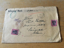 K14 Deutsches Reich 1919 Wertbrief Von Dirschau Nach Neuwied - Briefe U. Dokumente