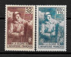 """France : """"Infanterie Française""""  N° 386/387 **  TB (17,oo €) - Ongebruikt"""