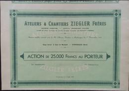 ZIEGLER Freres Atelier & Chantier DUNKERQUE 1955 - Aviación